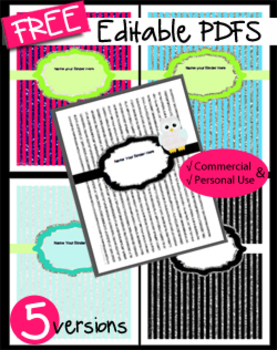 Lessons Binder Cover