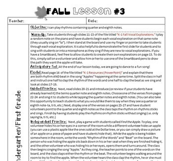 Fall Music Lesson Plans (12 Fall & 6 Halloween Music Lesson Plans) BUNDLED