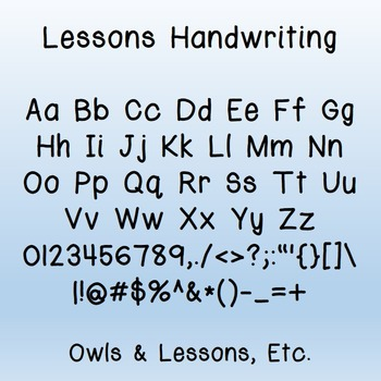 Lessons Handwriting Font