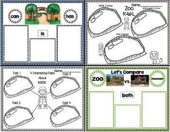 Lessons In A Jiffy: At the Zoo (Guided/Shared Reading, Research and More)