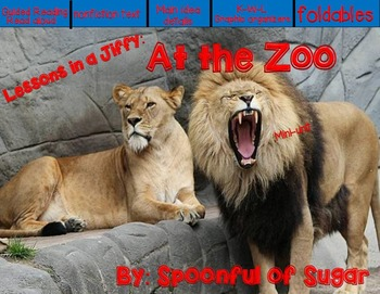 Lessons In A Jiffy: At the Zoo (Guided/Shared Reading, Res