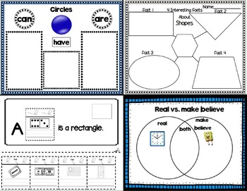 Lessons In a Jiffy: 2-D Shapes (Read Aloud, foldables and More!)