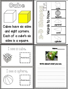 Lessons In a Jiffy: 3D Shapes (Foldables, Read Aoud, Flip books)