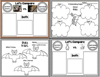 Lessons In a Jiffy: Bats (Shared/Guided Reading, Research and MORE!)