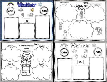 Lessons In a Jiffy: Weather (Shared/Guided Reading, Science and More!)