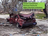 Lessons Learned from Hurricane Katrina for Higher Educatio