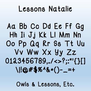 Lessons Natalie Fonts