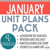 Lessons and Unit Plans for the entire month of January! - 4 Unit BUNDLE!