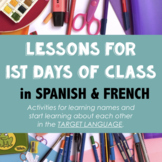 1st days Spanish or French - Lessons for the first days of class