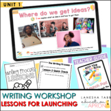 Unit 1: Lessons for Launching the Writing Process Framework