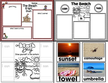 Lessons for Littles: Beach Day (Emergent Readers, Read-Aloud and More!)