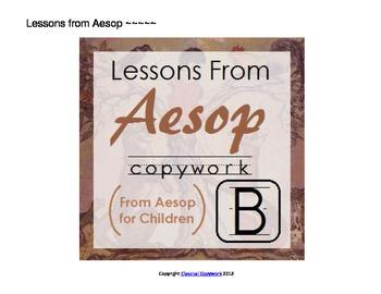 Lessons from Aesop - Beginner Copywork