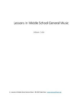 Lessons in Middle School General Music
