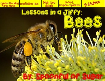 Lessons in a Jiffy: Bees (Guided/Shared Reading, Life Cycl