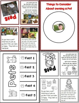 Lessons in a Jiffy: Pets (Guided/Shared Reading, Writing, Research)