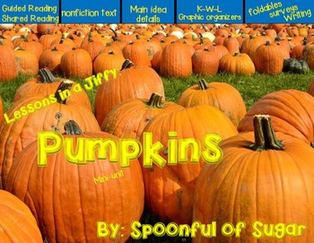 Lessons in a Jiffy: Pumpkins (Guided Readers, Foldables, Vocabulary)