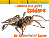 Lessons in a Jiffy: Spiders (Guided/Shared  nonfiction reading/writing/research)