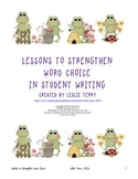Lessons to Strengthen Word Choice
