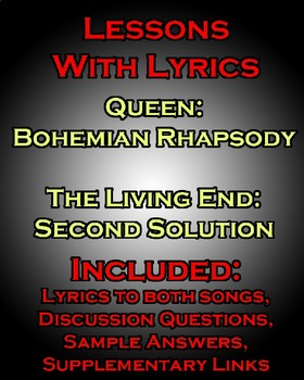 Lessons w/ Lyrics: Bohemian Rhapsody by Queen - PAIRED TEXT
