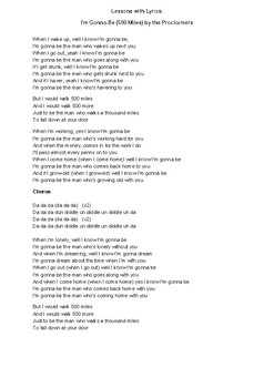 Lessons w/ Lyrics: Gonna Be (500 Miles) by the Proclaimers - Hyperbole