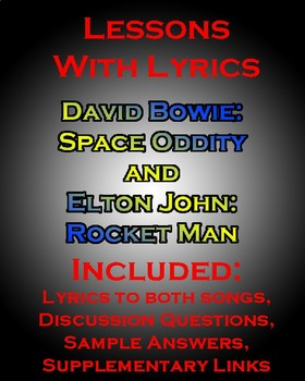 Lessons w/ Lyrics, Paired Text: David Bowie's Space Oddity and Elton's Rocketman