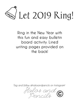 Let 2019 Ring! New Years Activity