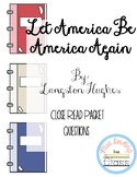 Let America Be America Again by Langston Hughes Close Read Poetry Packet