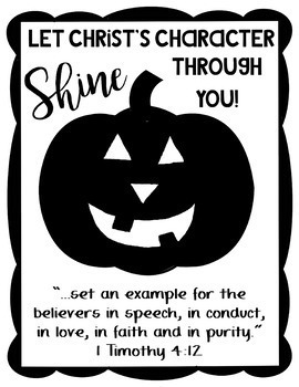 Let Christ's Character Shine Through You Pumpkin Craft