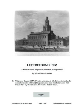 Let Freedom Ring! A Reader's Theater Script on the Declaration of Independence