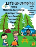 Summer-No Prep-Camping-Scavenger hunt-crossword-language-OT