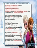 Let It Go! Kindergarten Culmination Lyrics