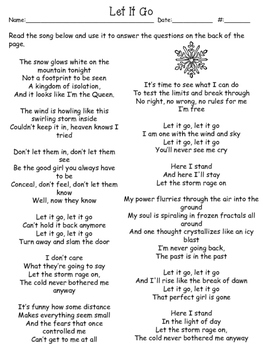 Freebie Let It Go: A Simile and Metaphor Worksheet by Learning Lane
