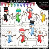 Let It Snow Clip Art - Snowman Clip Art