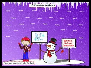 Let It Snow 2 Smartboard Attendance