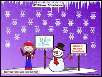 Let It Snow 2 Smartboard Attendance