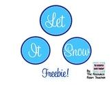 Let It Snow Bulletin Board Banner