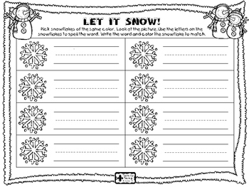 Let It Snow - CVC WORDS