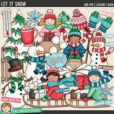 """Winter Clip Art: """"Let it Snow"""""""