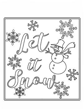 Let It Snow Coloring Book & Sudoku