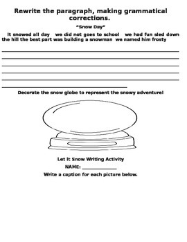 Let It Snow Common Core Science Packet (2.P.2.1 and 2.E.1.1)