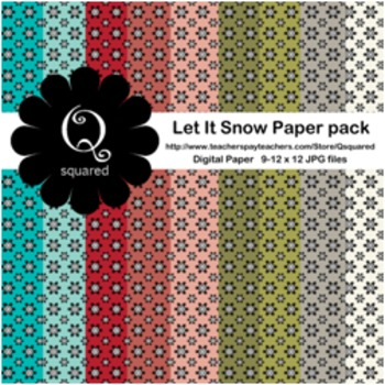 Let It Snow Digital Background Paper Pack