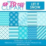 Let It Snow Digital Papers