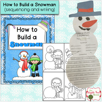 Snowman ELA and Math Unit with Sequencing, Writing, Reading, and Numbers