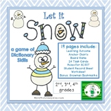 Let It Snow: Guide Words Dictionary Activity