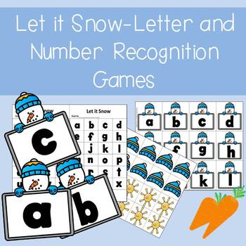 Let It Snow!!- Letter and Number Recognition Games