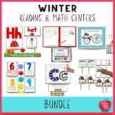 Math Centers and Literacy Activities for Winter