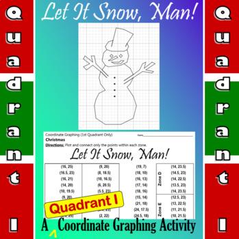 Let It Snow, Man! - A Quadrant I Coordinate Graphing Activity
