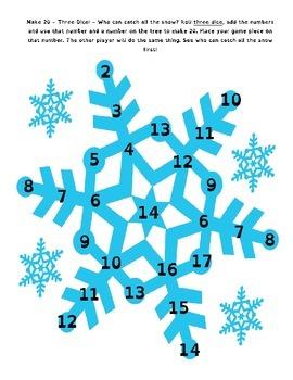 Let It Snow Math Games