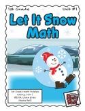 Let It Snow - Math Problem Solving – 1st Grade (Winter, Christmas, Holidays)