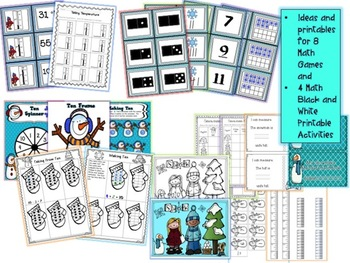 Let It Snow Math and Literacy Games and Activities for January